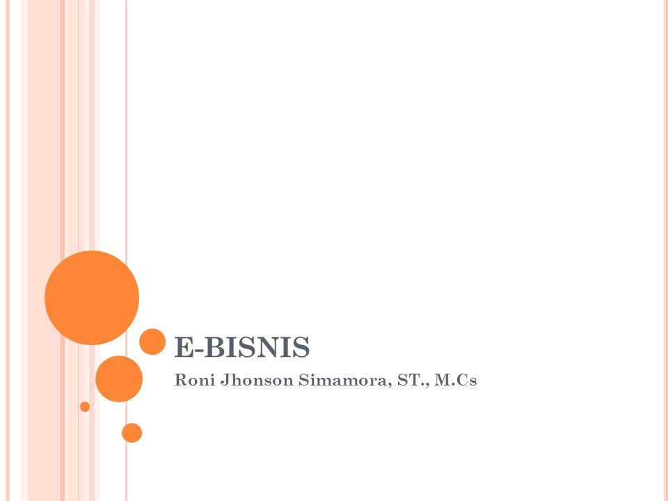 K ONSEP E-B ISNIS  E-Bisnis merupakan Kegiatan transaksi bisnis (produk atau jasa) secara elektronik.