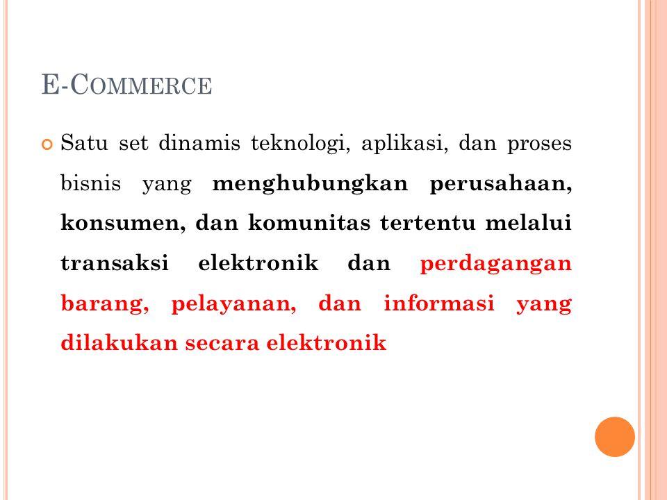 E RA E-B ISNIS Proses bisnis dikekola dengan menggunakan information system