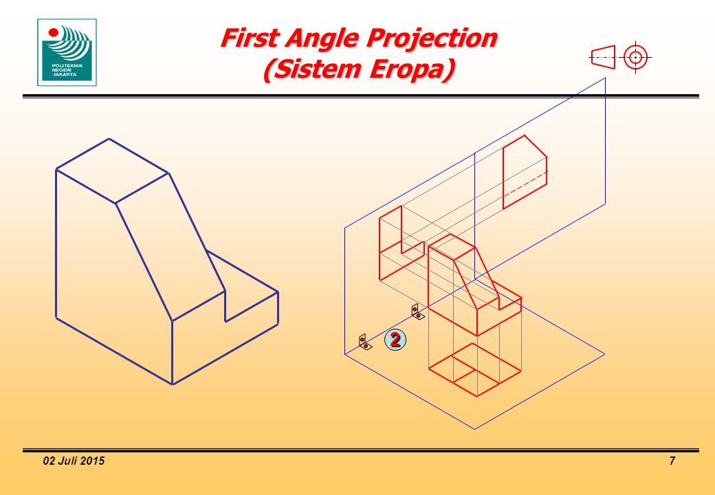 02 Juli 2015 8 First Angle Projection (Sistem Eropa)