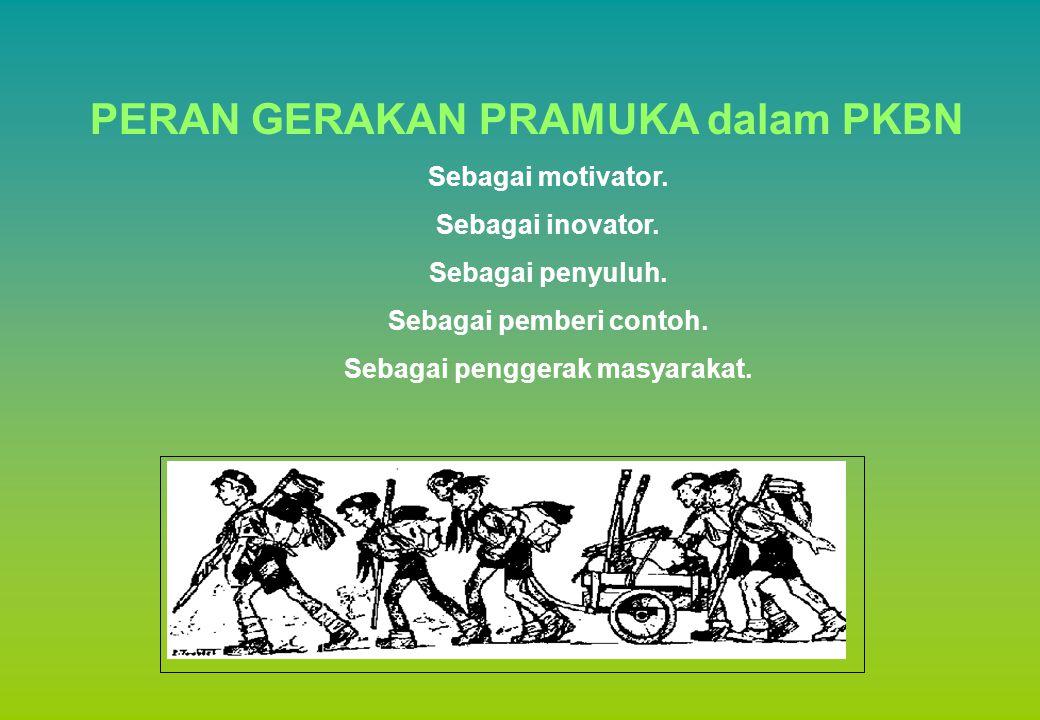 PERAN GERAKAN PRAMUKA dalam PKBN Sebagai motivator.