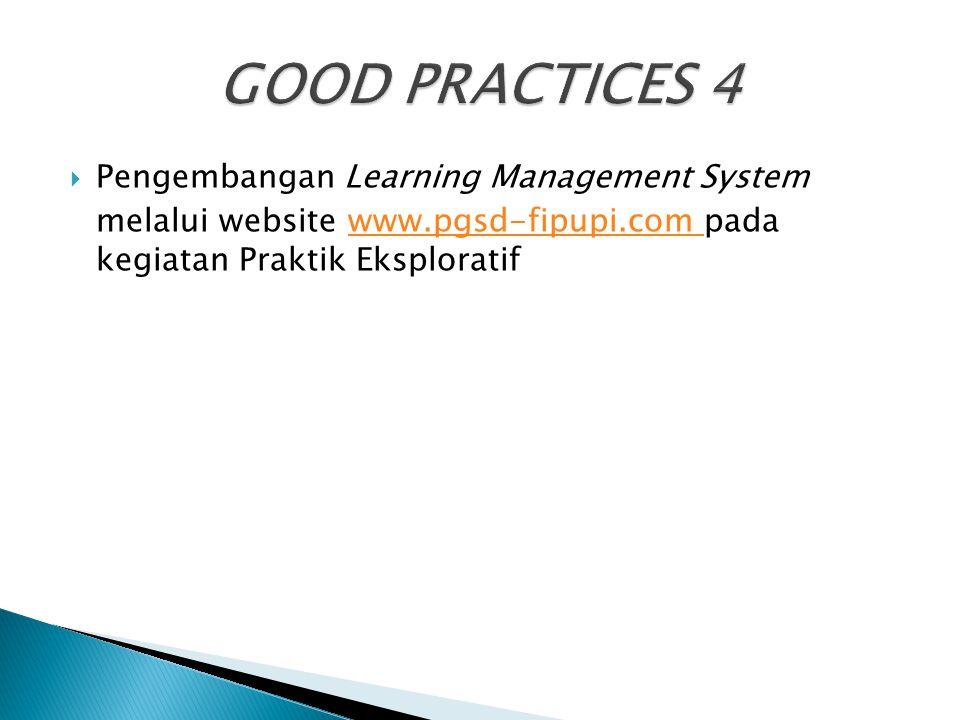  Pengembangan Learning Management System melalui website www.pgsd-fipupi.com pada kegiatan Praktik Eksploratifwww.pgsd-fipupi.com