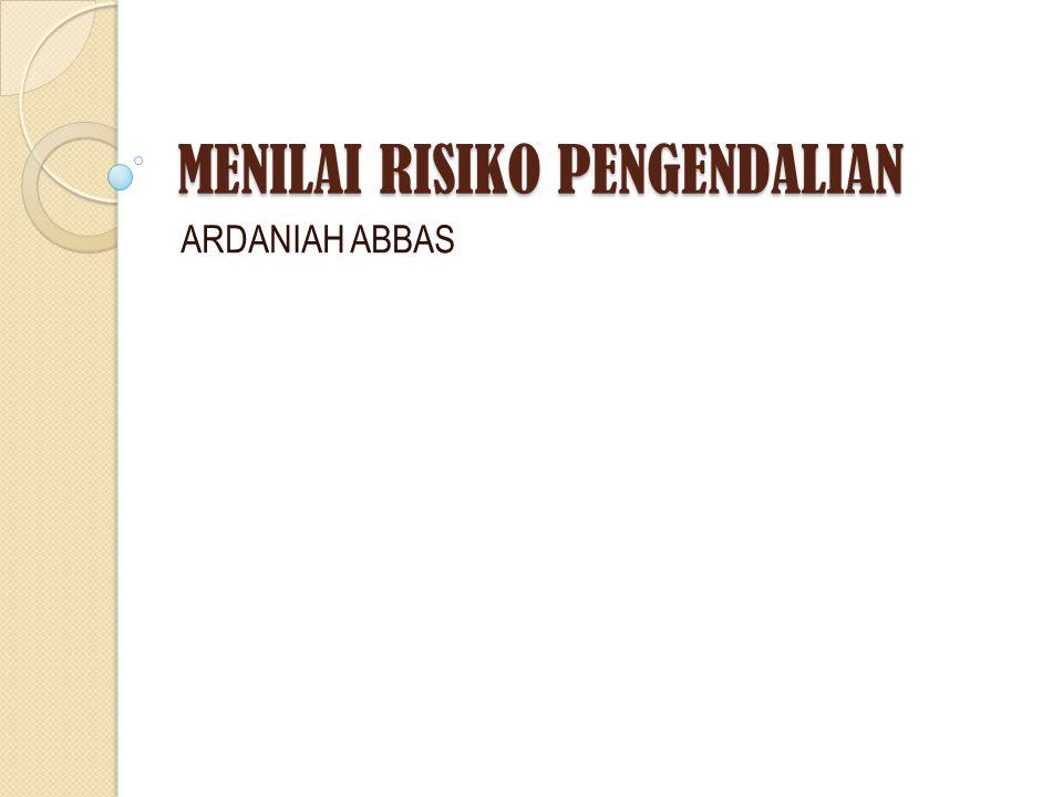 MENILAI RISIKO PENGENDALIAN ARDANIAH ABBAS