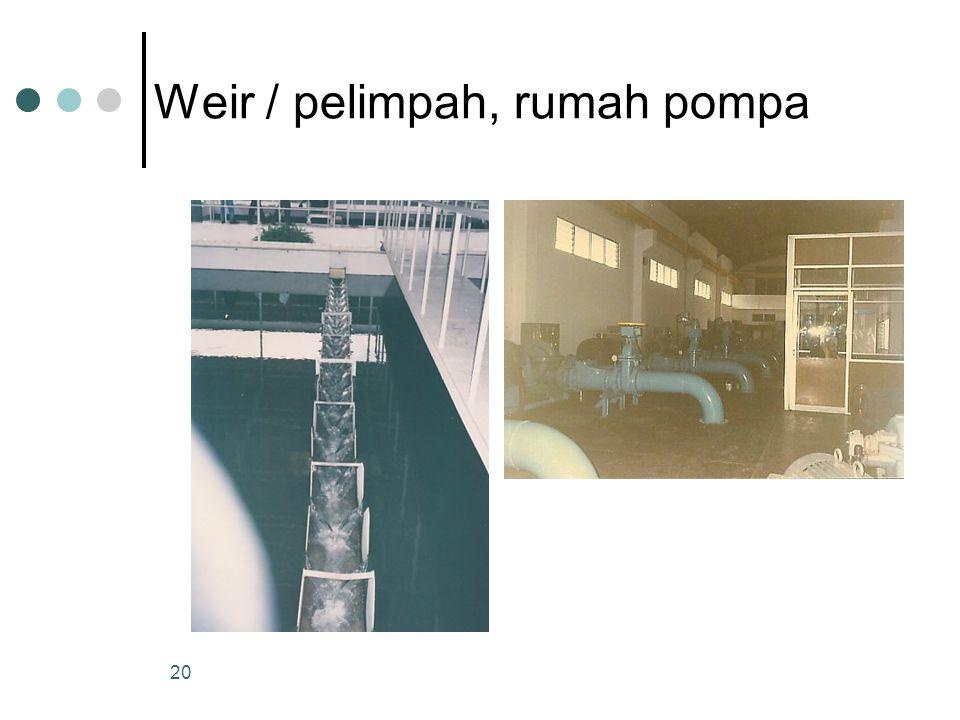 Weir / pelimpah, rumah pompa 20