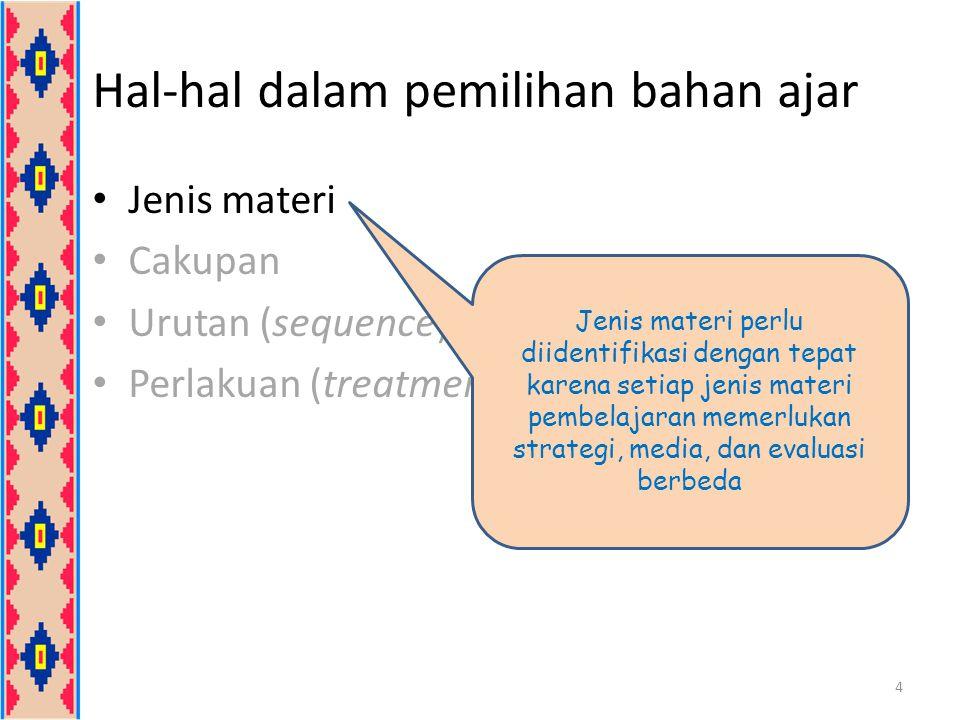 Klasifikasi Materi Pembelajaran 5