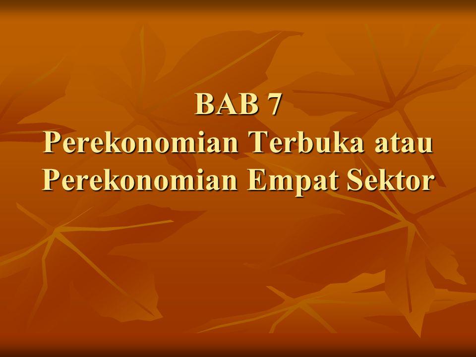 BAB 7 Perekonomian Terbuka atau Perekonomian Empat Sektor