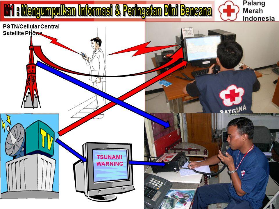 PSTN/Cellular Central Satellite Phone TSUNAMI WARNING