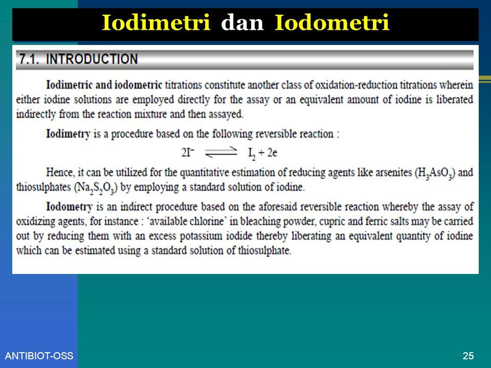 25ANTIBIOT-OSS Iodimetri dan Iodometri
