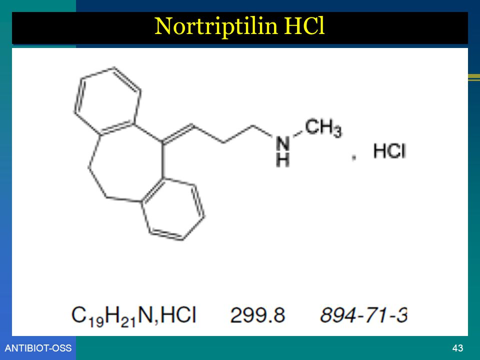 ANTIBIOT-OSS Nortriptilin HCl 43
