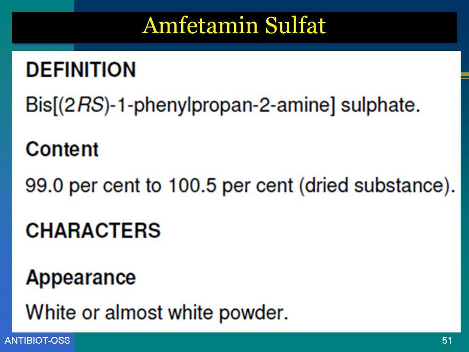 ANTIBIOT-OSS Amfetamin Sulfat 51