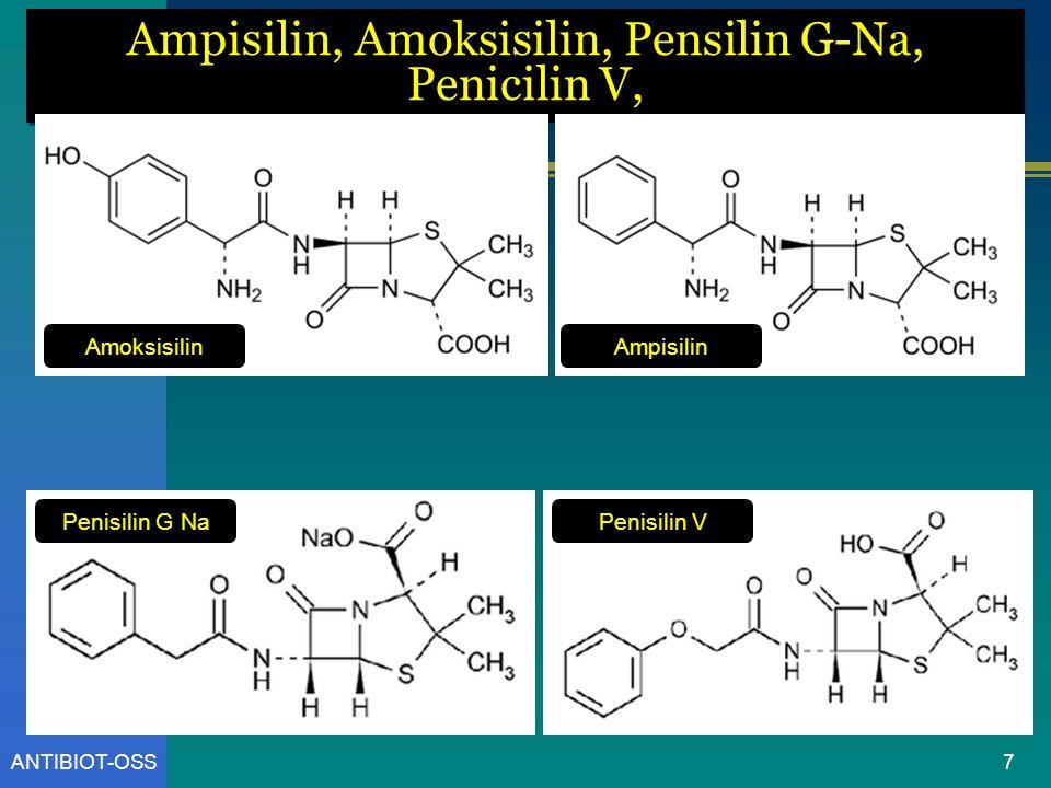 ANTIBIOT-OSS Ampisilin, Amoksisilin, Pensilin G-Na, Penicilin V, Amoksisilin Penisilin V Ampisilin Penisilin G Na 7