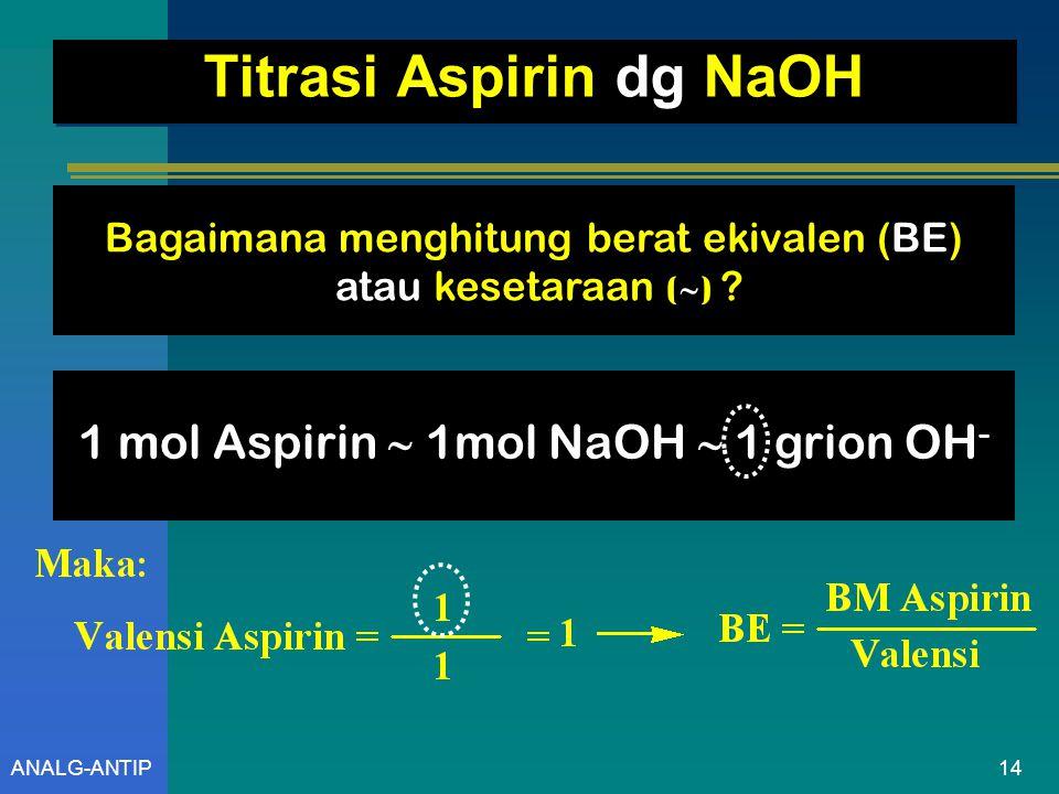 13ANALG-ANTIP Reaksi Yang Terjadi Aspirin Na-aspirin