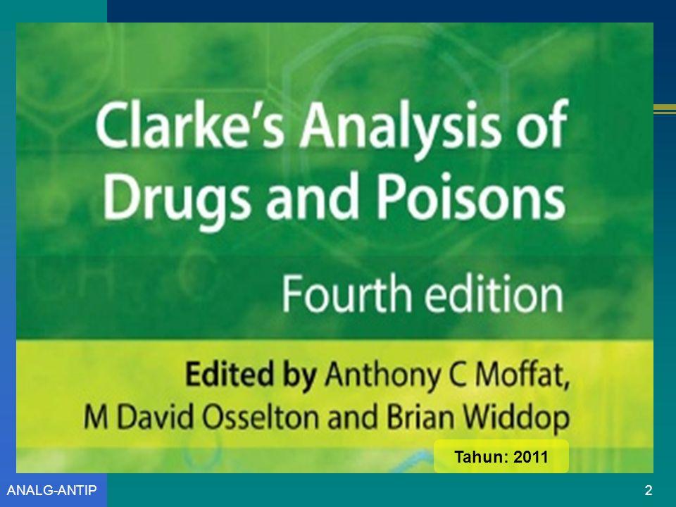 Prof. Dr. Sudibyo Martono, M.S., Apt. Analisis Analgetik-Antipiretik