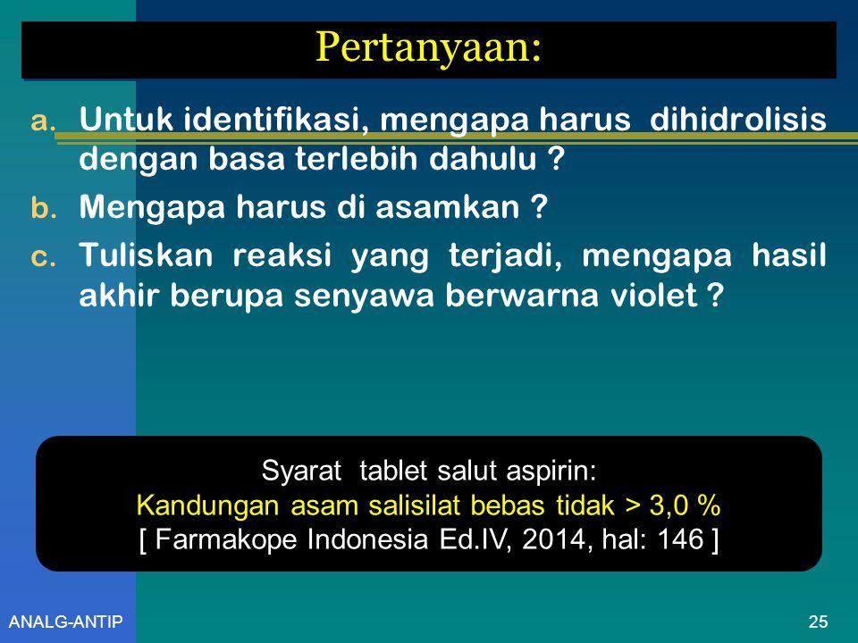 ANALG-ANTIP 2.PK. ASPIRIN [ Tablet ] [ British Pharmacopoeia, thn.