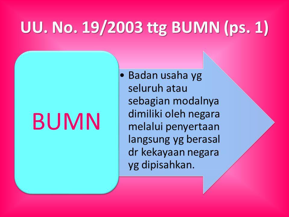 UU. No. 19/2003 ttg BUMN (ps.