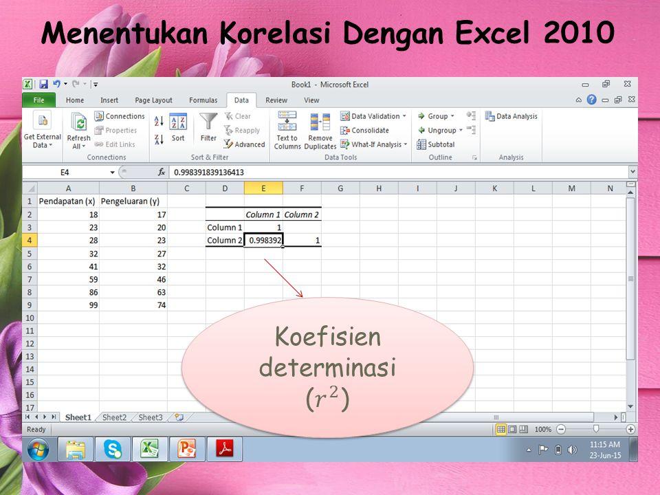 Menentukan Korelasi Dengan Excel 2010