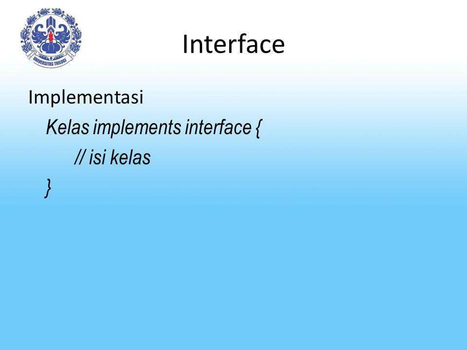 Interface Simbol dalam diagram UML