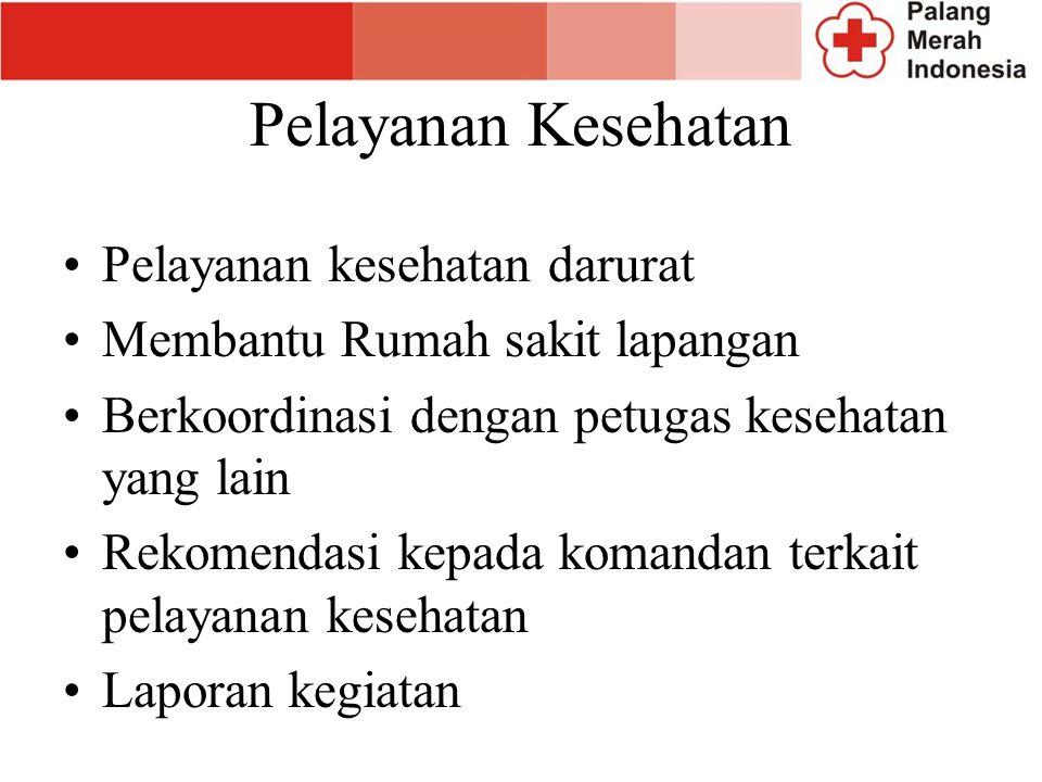 Penampungan Darurat Memilih lokasi untuk mendirikan penampungan darurat Mendirikan penampungan darurat Berkoordinasi dengan unit Wtsan mengenai kebuth