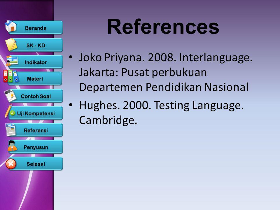 AspekSkorKeteranganBobot Kosakata5432154321 Menggunakan kosakata dan ungkapan seperti penutur asli Kadang-kadang menggunakan kosakata yang tidak tepat