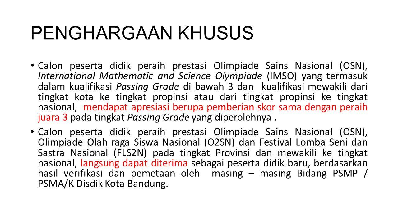Persyaratan Jalur Akademis SHUS/M (untuk SD ke SMP) Sertifikat Hasil Ujian Sekolah/Madrasah asli, atau Keterangan Dari Sekolah jika SHUS/M asli belum terbit.