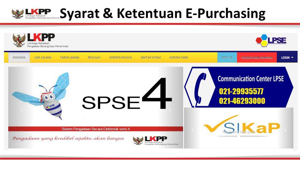 Syarat & Ketentuan E-Purchasing