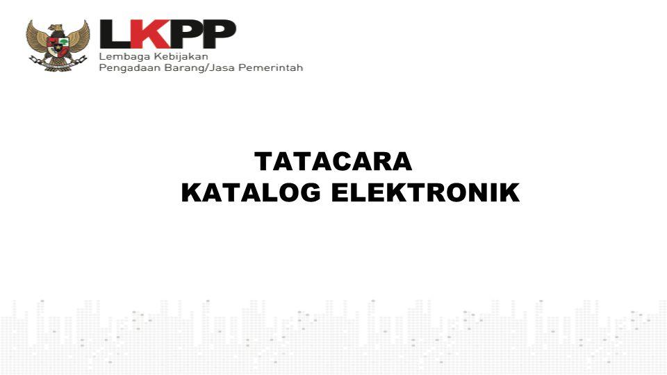 TATACARA KATALOG ELEKTRONIK