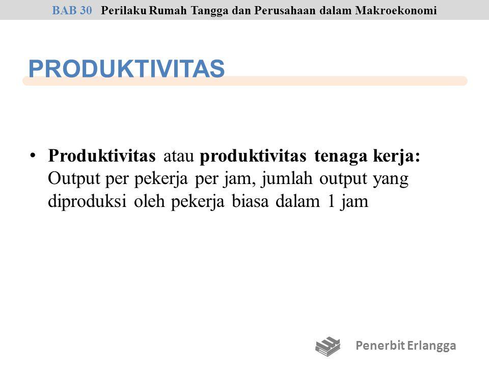 PRODUKTIVITAS Produktivitas atau produktivitas tenaga kerja: Output per pekerja per jam, jumlah output yang diproduksi oleh pekerja biasa dalam 1 jam
