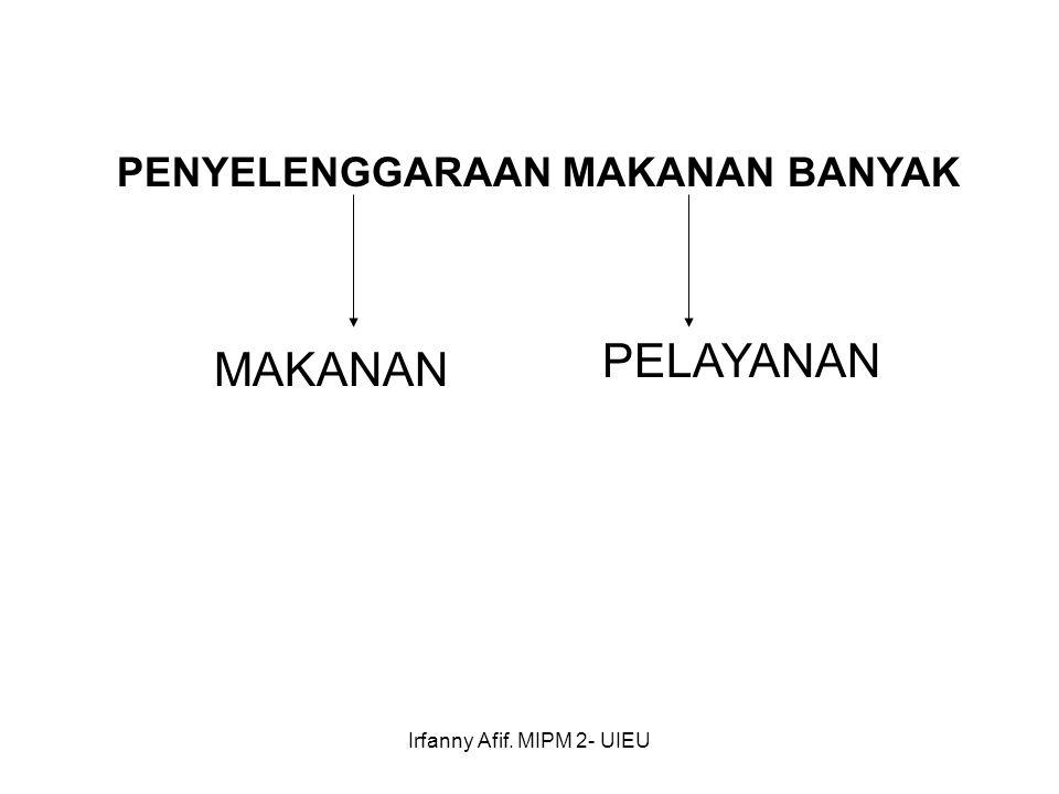 Irfanny Afif. MIPM 2- UIEU PENYELENGGARAAN MAKANAN BANYAK MAKANAN PELAYANAN