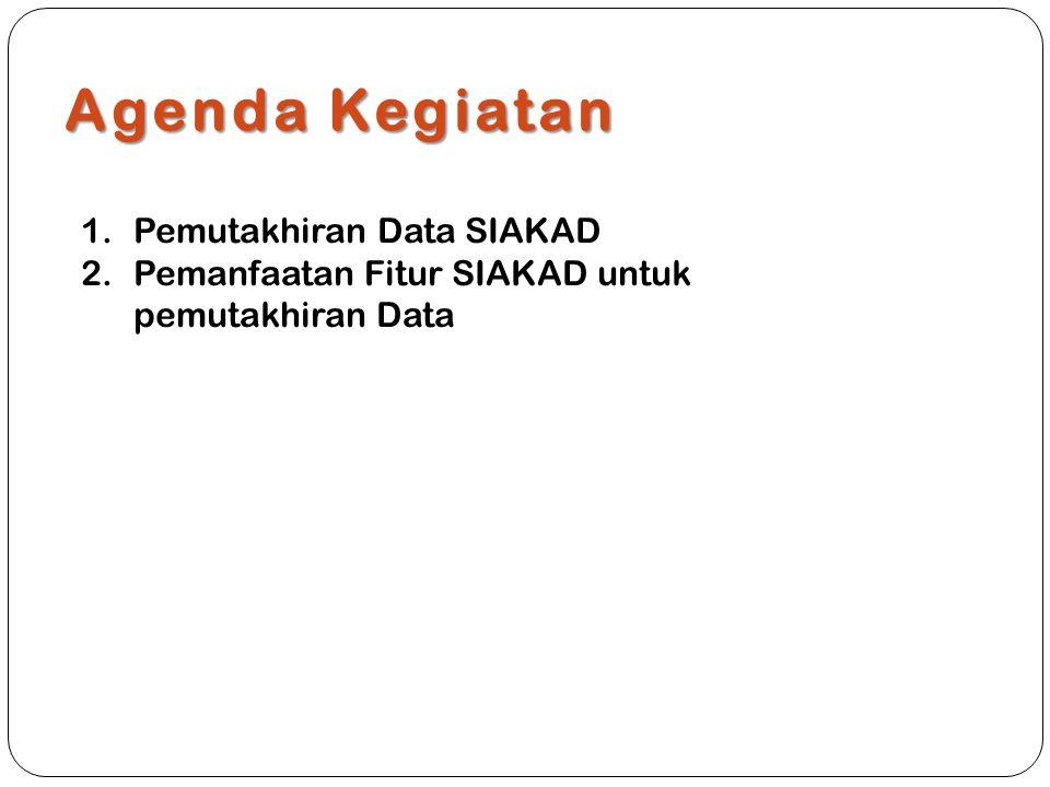 Agenda Kegiatan 1.Pemutakhiran Data SIAKAD 2.Pemanfaatan Fitur SIAKAD untuk pemutakhiran Data