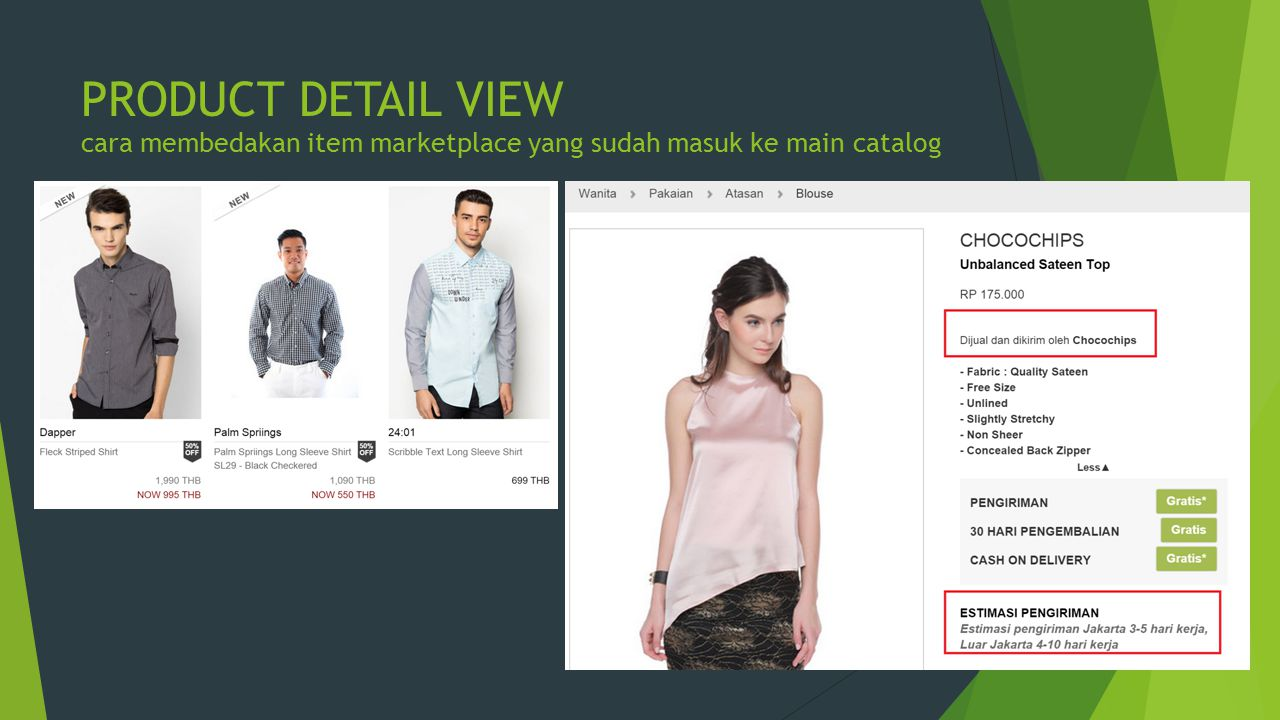 PRODUCT DETAIL VIEW cara membedakan item marketplace yang sudah masuk ke main catalog