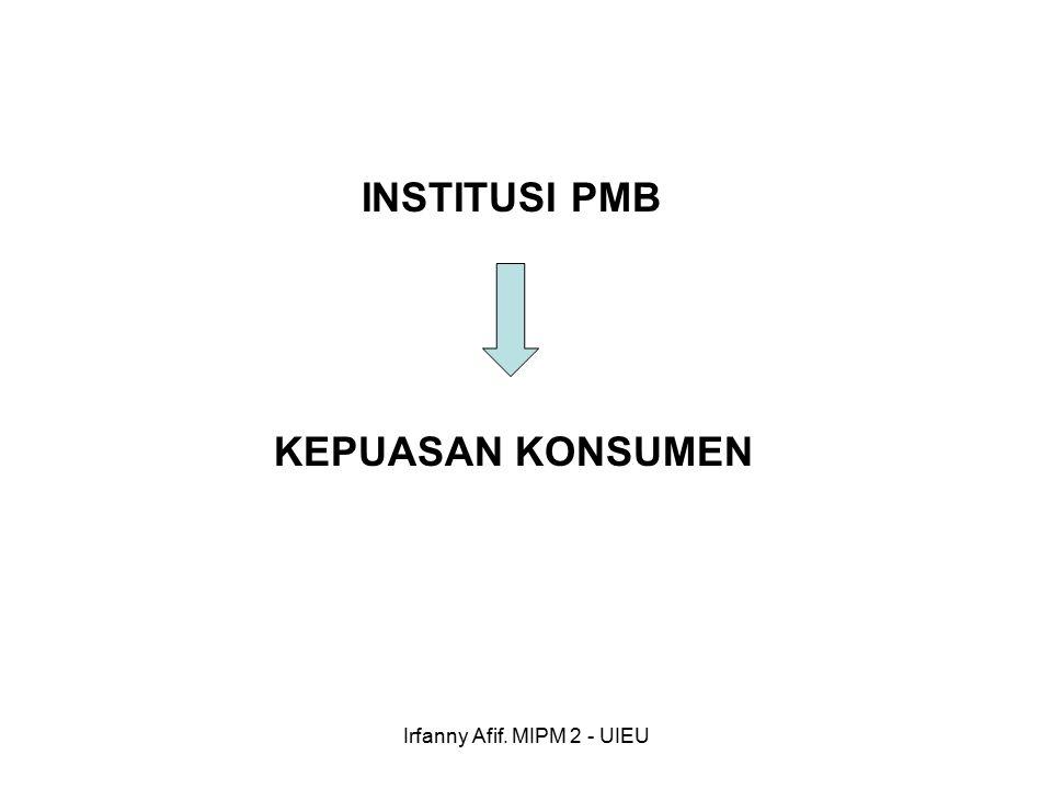 Irfanny Afif. MIPM 2 - UIEU INSTITUSI PMB KEPUASAN KONSUMEN
