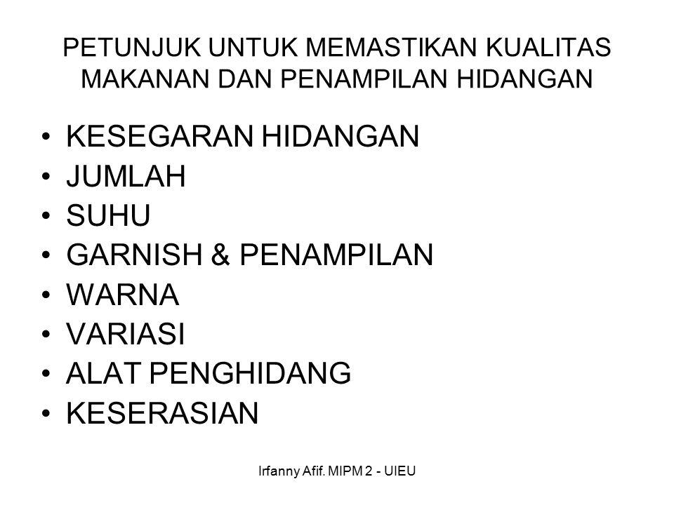 Irfanny Afif. MIPM 2 - UIEU SELERA KONSUMEN TERPENUHI KEPUASAN KONSUMEN