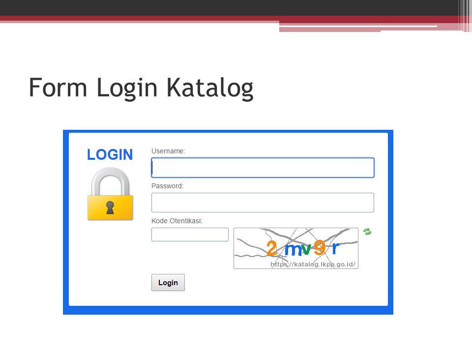 Form Login Katalog