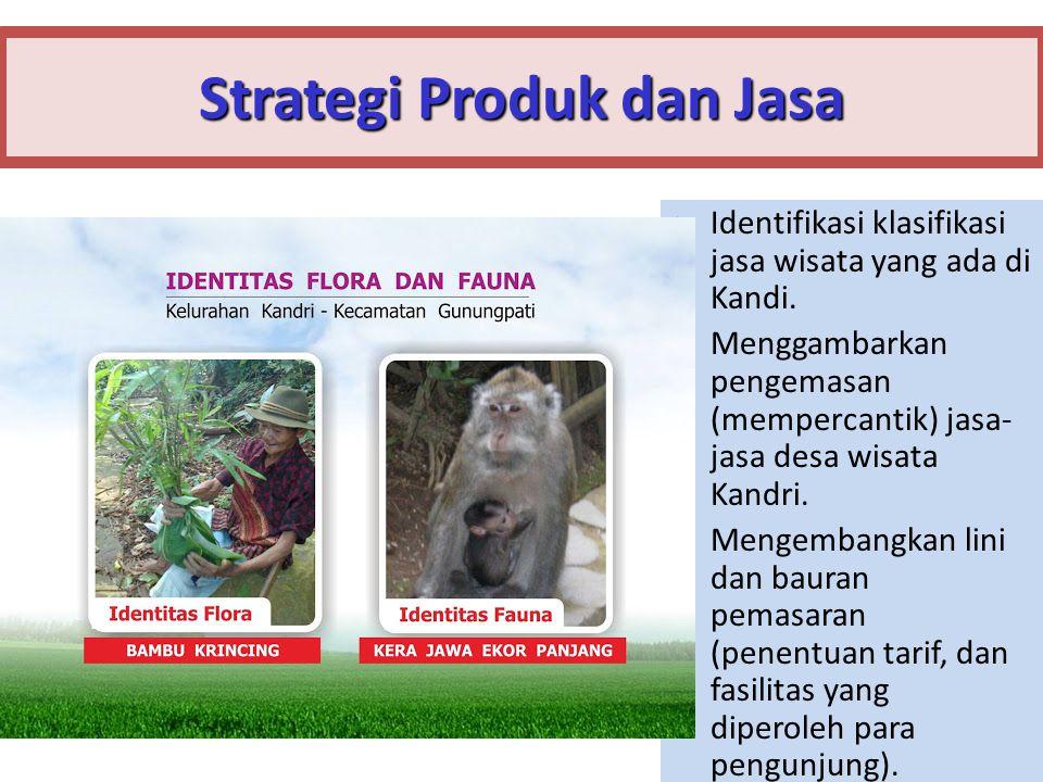 13 Strategi Produk dan Jasa Identifikasi klasifikasi jasa wisata yang ada di Kandi.