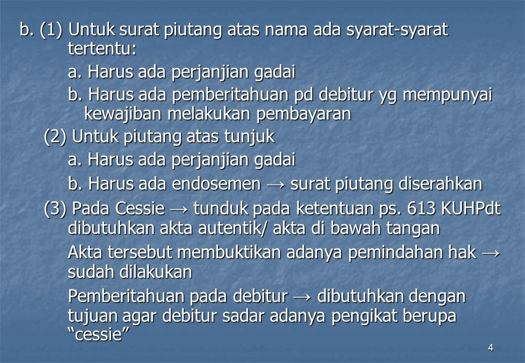 5 Hak dan kewajiban Pandnemer: 1.