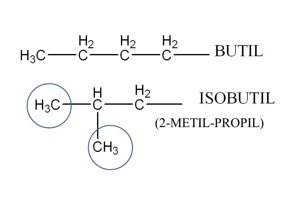 ISOPROPIL PROPIL -CH 2 -CH 2 -CH 3 -C 3 H 7 GUGUS ALKIL (-C n H 2n+1 ) -C 2 H 5 = -CH 2 -CH 3 = etil -CH 3 = metil