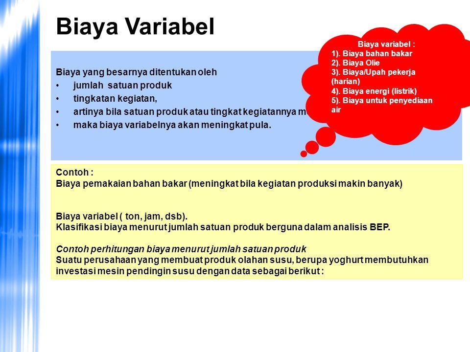 Kekurangan yang terdapat pada analisis BEP : Harga diasumsikan tetap pada seluruh kisaran (range) produk yang dihasilkan.