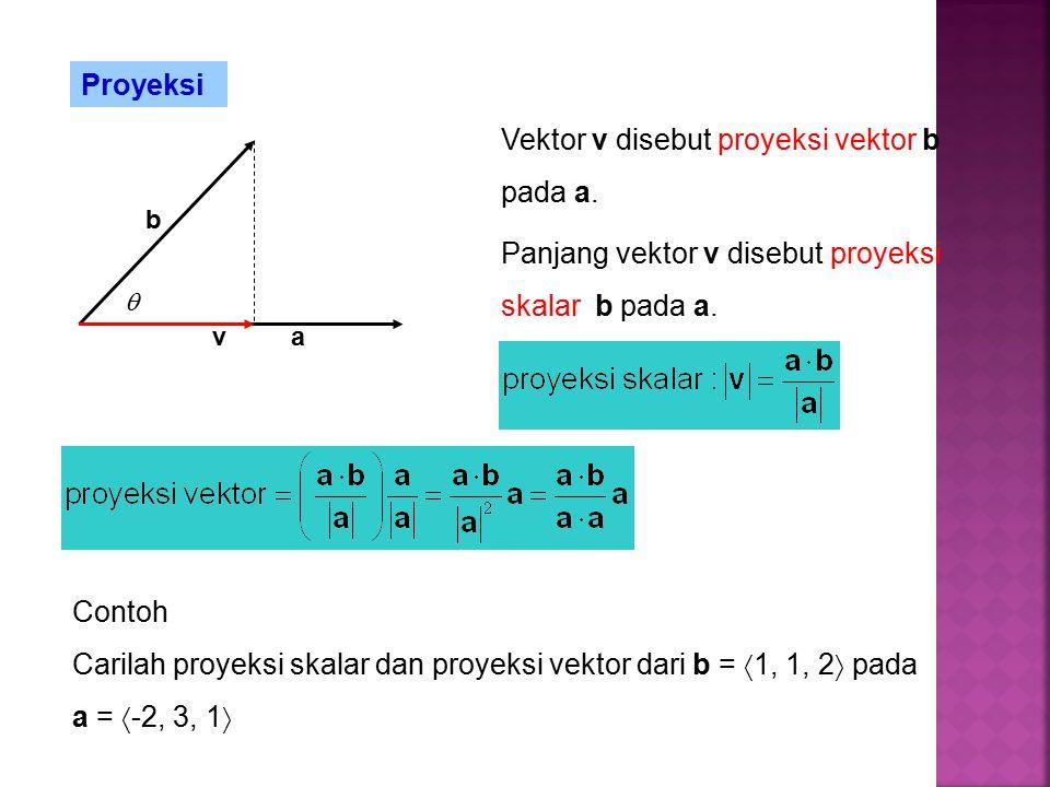 Proyeksi a b v Vektor v disebut proyeksi vektor b pada a.