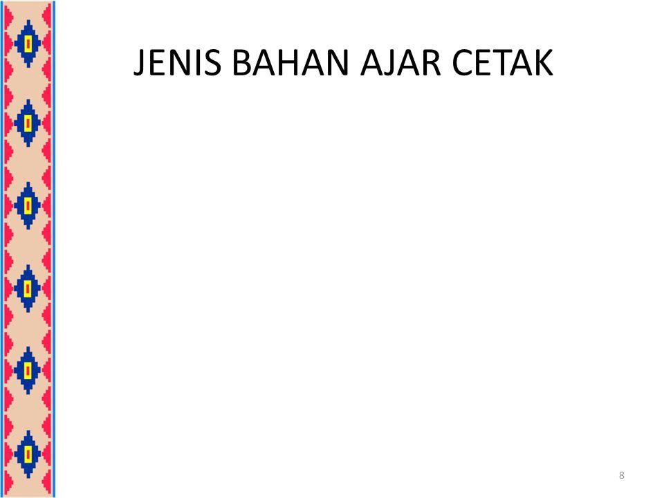 JENIS BAHAN AJAR CETAK 8