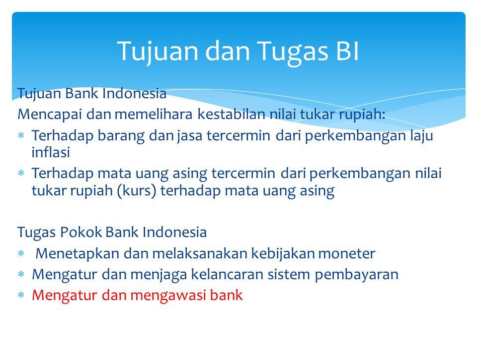 Pengawasn dan Pengaturan Bank Kebijakan Moneter Kelancaran Sistem Pembayaran Keterkaitan Tugas Pokok BI