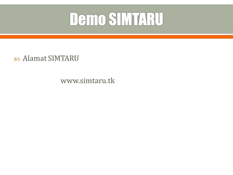  Alamat SIMTARU www.simtaru.tk