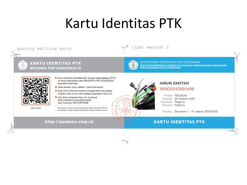 Kartu Identitas PTK