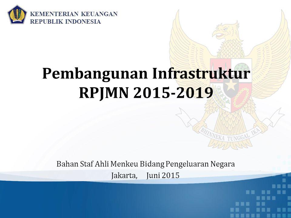 Pembangunan Infrastruktur RPJMN 2015-2019 Bahan Staf Ahli Menkeu Bidang Pengeluaran Negara Jakarta, Juni 2015