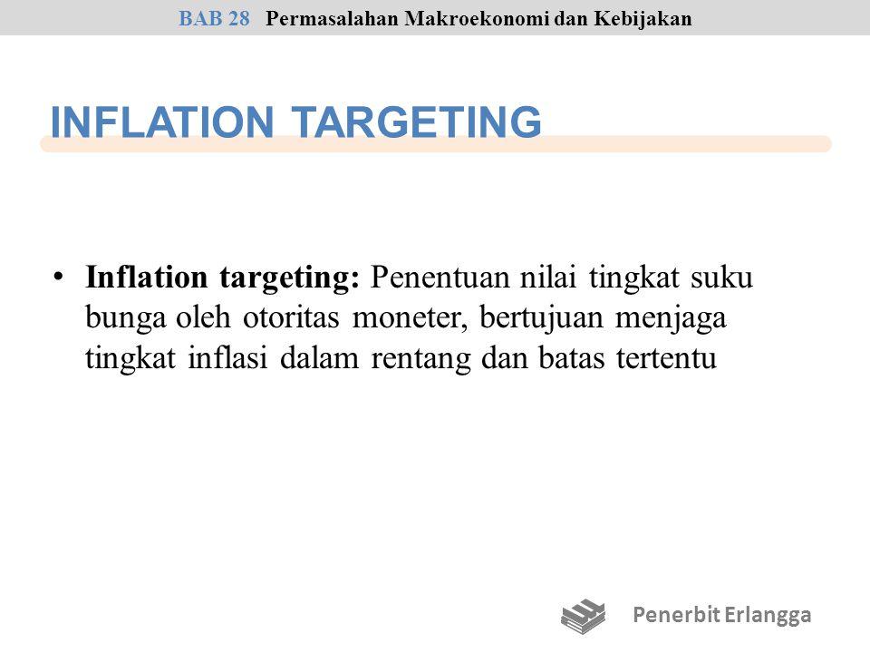 INFLATION TARGETING Inflation targeting: Penentuan nilai tingkat suku bunga oleh otoritas moneter, bertujuan menjaga tingkat inflasi dalam rentang dan
