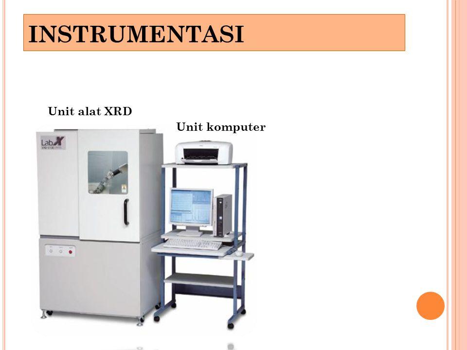 Unit alat XRD Unit komputer INSTRUMENTASI
