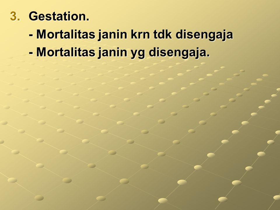 3.Gestation. - Mortalitas janin krn tdk disengaja - Mortalitas janin krn tdk disengaja - Mortalitas janin yg disengaja.