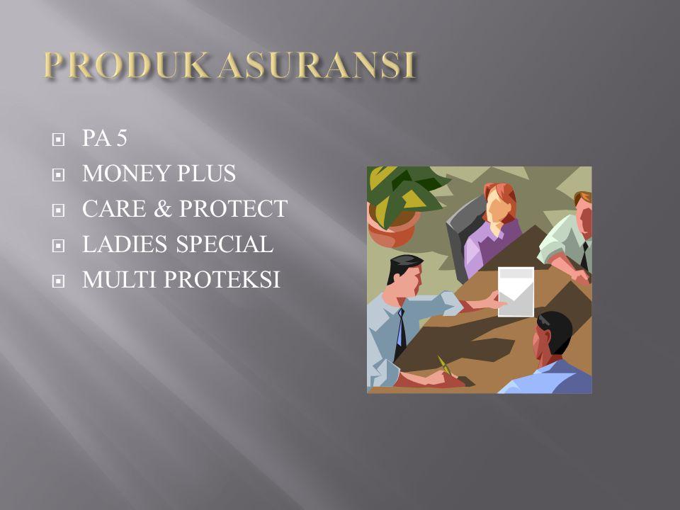  PA 5  MONEY PLUS  CARE & PROTECT  LADIES SPECIAL  MULTI PROTEKSI