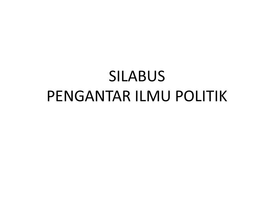 SILABUS PENGANTAR ILMU POLITIK