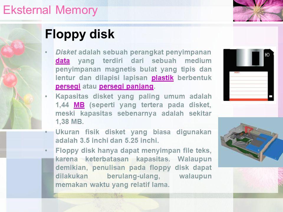 Disket adalah sebuah perangkat penyimpanan data yang terdiri dari sebuah medium penyimpanan magnetis bulat yang tipis dan lentur dan dilapisi lapisan