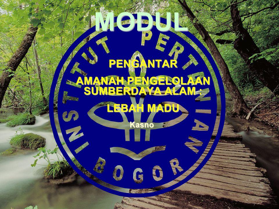MODUL PENGANTAR AMANAH PENGELOLAAN SUMBERDAYA ALAM : LEBAH MADU Kasno