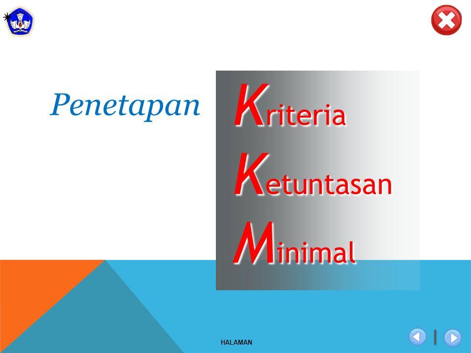 x HALAMAN K riteria K etuntasan M inimal Penetapan